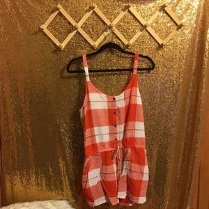 Red Plaid Old Navy Romper